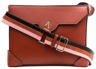 Atelier Manu Red bold leather shoulder bag
