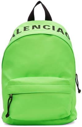Balenciaga Green Small Wheel Backpack