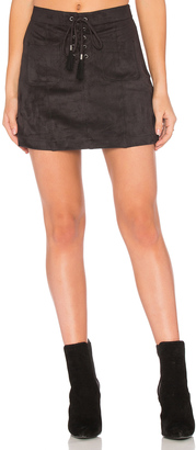 Ella Moss Connelly Faux Suede Skirt $178 thestylecure.com