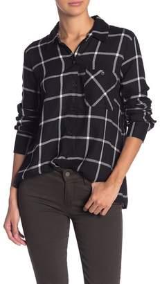 Socialite Plaid Long Sleeve Button Down Shirt