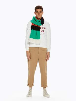 Scotch & Soda Patched Pocket Trousers Loose cropped fit