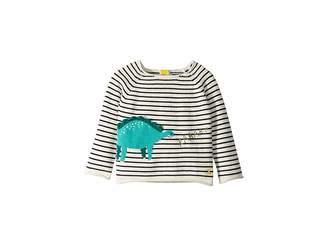 Joules Kids Intarsia Dinosaur Sweater (Infant)