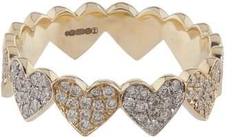Sydney Evan Yellow and White Gold Diamond Heart Eternity Ring