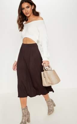 PrettyLittleThing Grey Jersey Floaty Midi Skirt