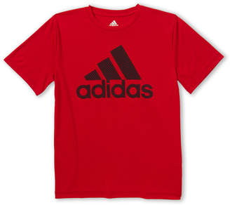 adidas Boys 8-20) Perforated Badge Logo Short Sleeve Jersey Tee
