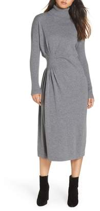 CAARA Hepburn Draped Sweater Dress