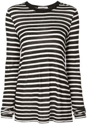 Alexander Wang horizontal striped T-shirt