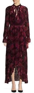 ML Monique Lhuillier Long Sleeve Velvet Gown