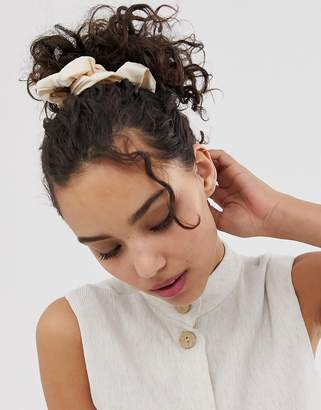 Asos Design DESIGN scrunchie in woven fabric