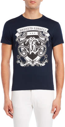 Roberto Cavalli Serpent Shield Tee