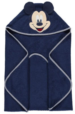 Disney Mickey Mouse Navy Hooded Towel
