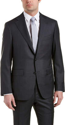 Canali Wool Suit With Flat Front Pant