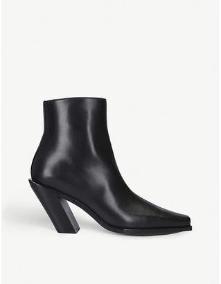 Ann Demeulemeester Slant-heel leather ankle boots