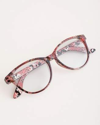 Chico's Chicos Faux-Snakeskin Red Reading Glasses
