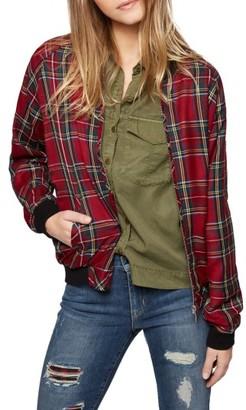 Women's Sanctuary Plaid Bomber Jacket $139 thestylecure.com