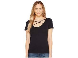 Splendid Short Sleeve Crisscross Tee Women's T Shirt