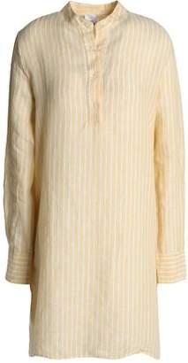 Iris & Ink Striped Linen Mini Shirt Dress