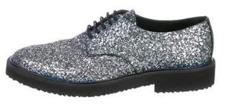 Giuseppe Zanotti Glitter Derby Shoes silver Glitter Derby Shoes