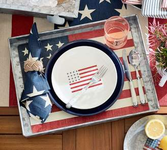 Pottery Barn American Flag Corkmat, Set of 4