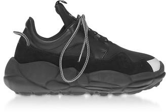 Versace Versus Anatomia Neoprene and Suede Runner Sneakers