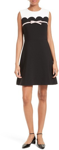 Kate Spade Women's Kate Spade New York Bow Trim A-Line Dress