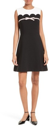 Women's Kate Spade New York Bow Trim A-Line Dress $328 thestylecure.com