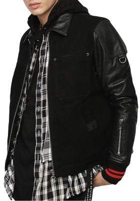 Diesel J-Yuki Leather Jacket