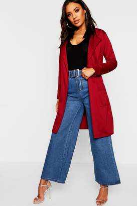 boohoo Belted Duster Coat With Pockets