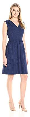 Lark & Ro Women's Sleeveless Shirred Fit and Flare Dress