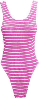 Bond Eye Maxam Berry Striped One Piece Swimsuit