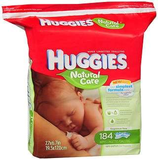 Huggies Natural Care Wipes - 16 wipes, Pack of 2
