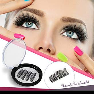 VASSOUL Dual Magnetic Eyelashes 0.2mm Ultra Thin Magnet Lightweight & Easy to Wear Best 3D Reusable Eyelashes Extensions (4pcs)