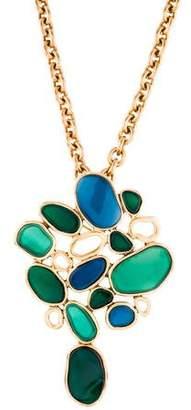 Oscar de la Renta Resin Convertible Brooch Pendant Necklace