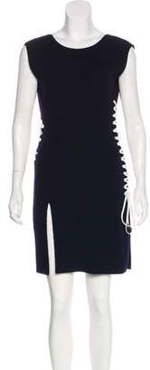 Christian Dior Wool Lace-Up Dress