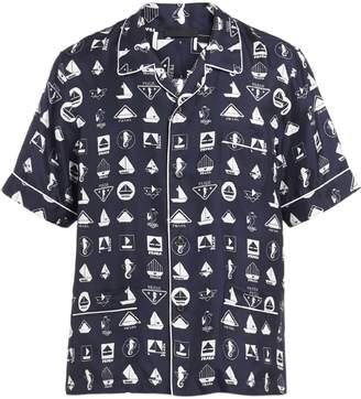 Prada logo printed pyjama shirt