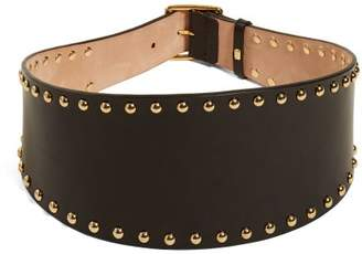 Alexander McQueen Studded Leather Belt - Womens - Black