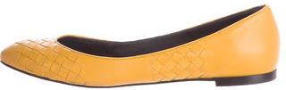 Bottega VenetaBottega Veneta Leather Semi Pointed Flats