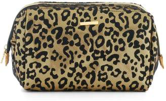 Juicy Couture Leopard Print Flocked Cosmetic Bag
