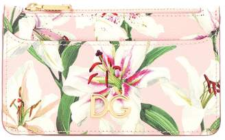 Dolce & Gabbana Floral leather card holder