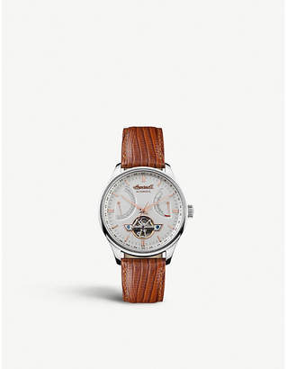 Ingersoll I04605 Hawley stainless steel and leather automatic watch