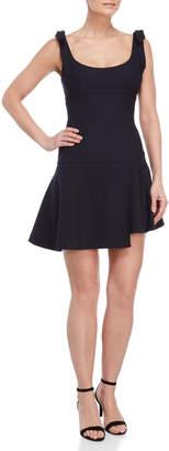 Cinq à Sept Jeanette Self-Tie Shoulder Mini Dress