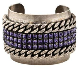 Dannijo Crystal & Curb Chain Cuff