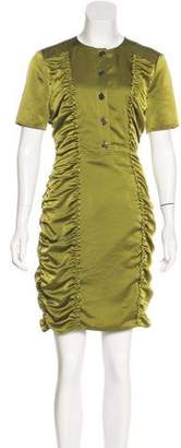 Burberry Ruched Mini Dress