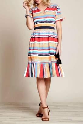 Yumi Vacation Stripe Dress
