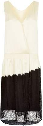 Burberry Lace Trim Slip Dress