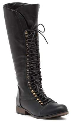 Chase & Chloe Lace-up Riding Boot