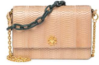 Tory Burch Kira Exotic Snake-Embossed Shoulder Bag