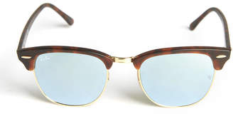 Ray-Ban Silver Flashless Clubmaster Sunglasses