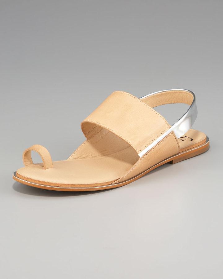 Diane von Furstenberg Klee Slingback Toe-Ring Sandal