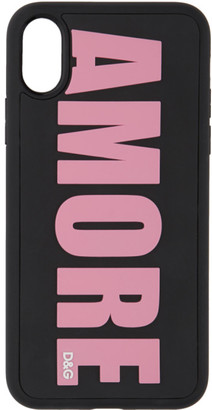 Dolce & Gabbana Black Amore iPhone X Case